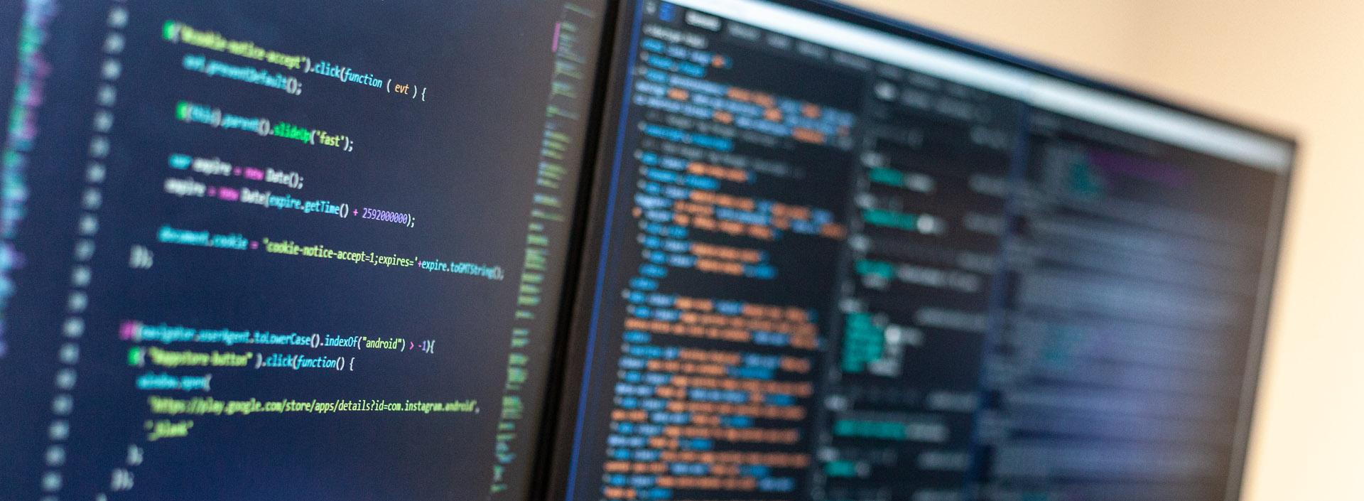 Laravel Code on a computer screen