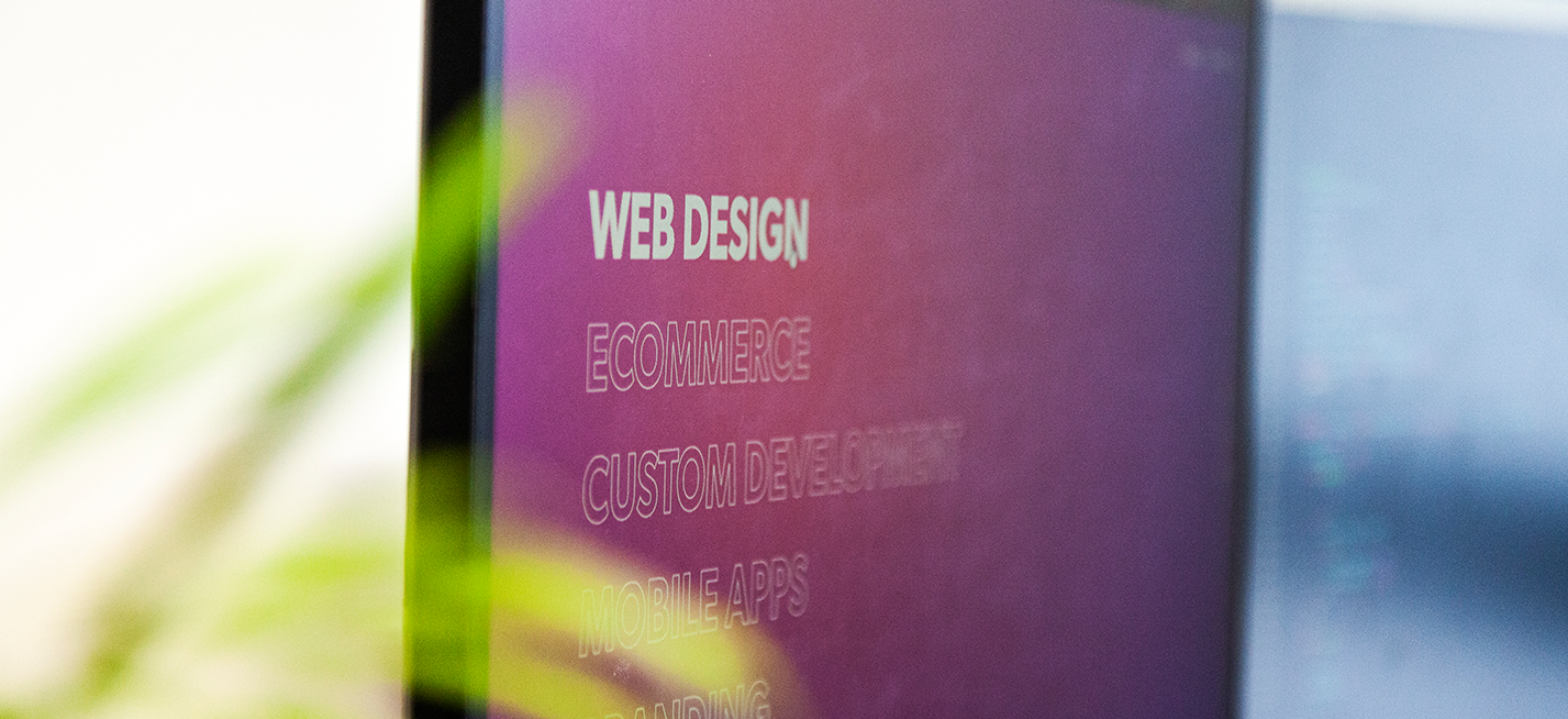 Web Design services from gloversure displayed on a computer